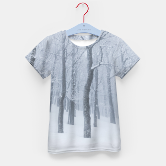 Thumbnail image of Snow covered frozen forest in winter Kid's t-shirt, Live Heroes