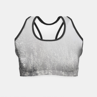 Miniature de image de Snowy spruce forest wrapped in fog Crop Top, Live Heroes
