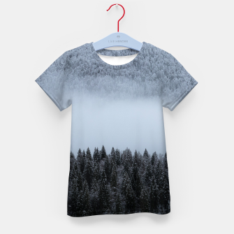 Thumbnail image of Fog rolling over spruce forest Kid's t-shirt, Live Heroes