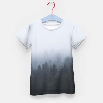 Thumbnail image of Mysterious forest in the fog Kid's t-shirt, Live Heroes