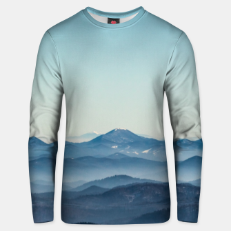Thumbnail image of Fog layers, hills and mountain Unisex sweater, Live Heroes