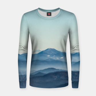 Thumbnail image of Fog layers, hills and mountain Women sweater, Live Heroes