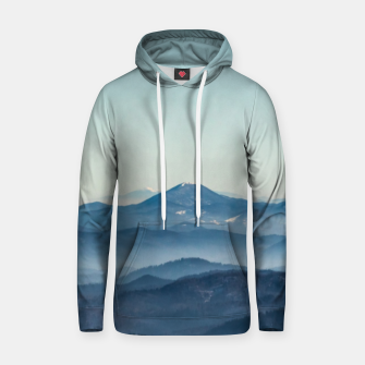 Thumbnail image of Fog layers, hills and mountain Hoodie, Live Heroes