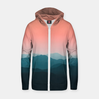 Thumbnail image of Early morning layers Zip up hoodie, Live Heroes