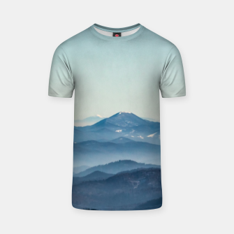 Thumbnail image of Fog layers, hills and mountain T-shirt, Live Heroes