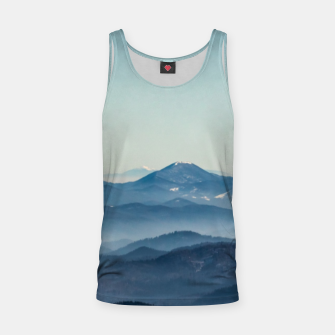 Thumbnail image of Fog layers, hills and mountain Tank Top, Live Heroes