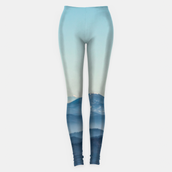 Thumbnail image of Fog layers, hills and mountain Leggings, Live Heroes