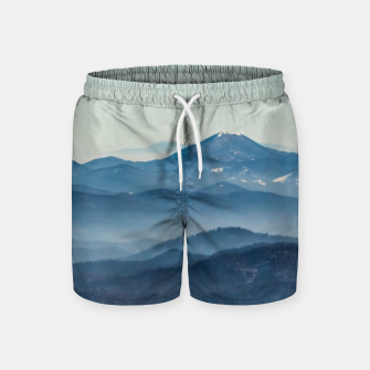Thumbnail image of Fog layers, hills and mountain Swim Shorts, Live Heroes