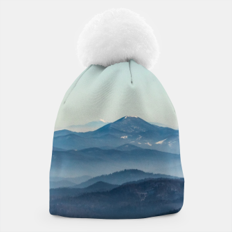 Thumbnail image of Fog layers, hills and mountain Beanie, Live Heroes