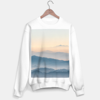Thumbnail image of Fog layers, hills and mountains Sweater regular, Live Heroes