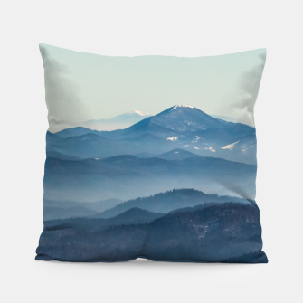 Thumbnail image of Fog layers, hills and mountain Pillow, Live Heroes