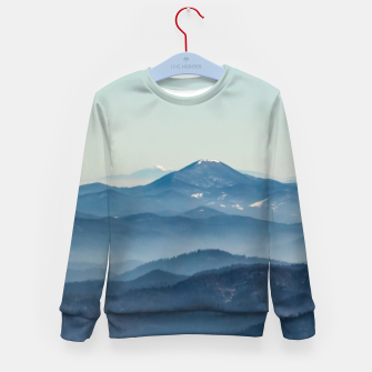 Thumbnail image of Fog layers, hills and mountain Kid's sweater, Live Heroes