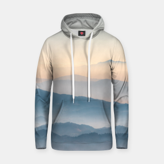 Thumbnail image of Fog layers, hills and mountains Hoodie, Live Heroes