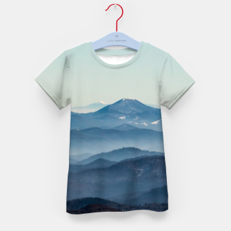 Thumbnail image of Fog layers, hills and mountain Kid's t-shirt, Live Heroes