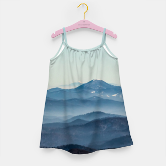 Thumbnail image of Fog layers, hills and mountain Girl's dress, Live Heroes