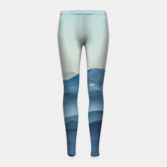 Thumbnail image of Fog layers, hills and mountain Girl's leggings, Live Heroes