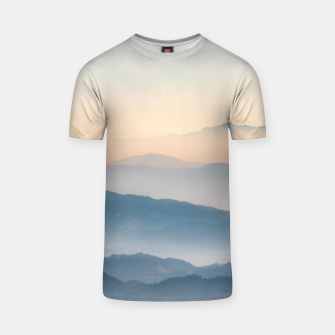 Thumbnail image of Fog layers, hills and mountains T-shirt, Live Heroes