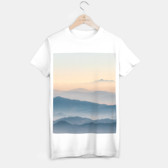 Thumbnail image of Fog layers, hills and mountains T-shirt regular, Live Heroes