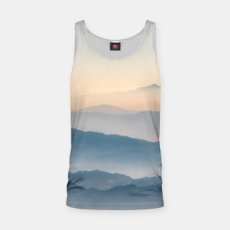 Thumbnail image of Fog layers, hills and mountains Tank Top, Live Heroes