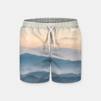 Thumbnail image of Fog layers, hills and mountains Swim Shorts, Live Heroes