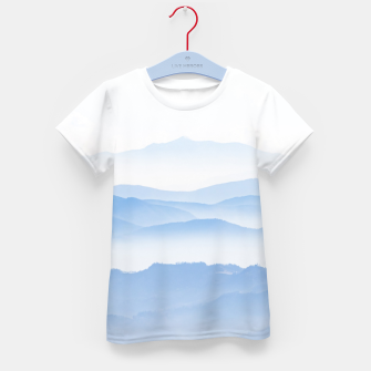 Thumbnail image of Foggy valley layers Kid's t-shirt, Live Heroes