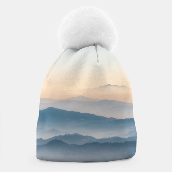 Thumbnail image of Fog layers, hills and mountains Beanie, Live Heroes
