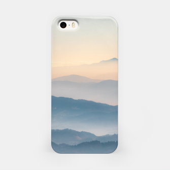 Thumbnail image of Fog layers, hills and mountains iPhone Case, Live Heroes