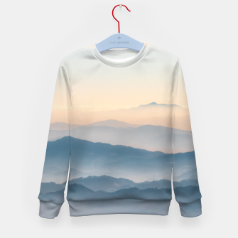 Thumbnail image of Fog layers, hills and mountains Kid's sweater, Live Heroes