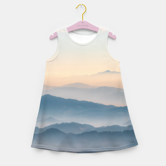 Thumbnail image of Fog layers, hills and mountains Girl's summer dress, Live Heroes