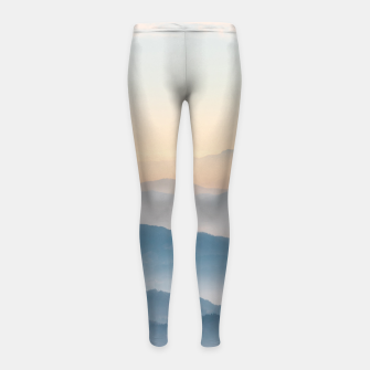 Thumbnail image of Fog layers, hills and mountains Girl's leggings, Live Heroes