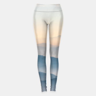 Thumbnail image of Fog layers, hills and mountains Leggings, Live Heroes