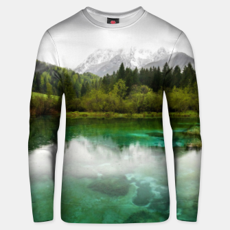Thumbnail image of Stunning cloudy day at Zelenci springs, Slovenia Unisex sweater, Live Heroes