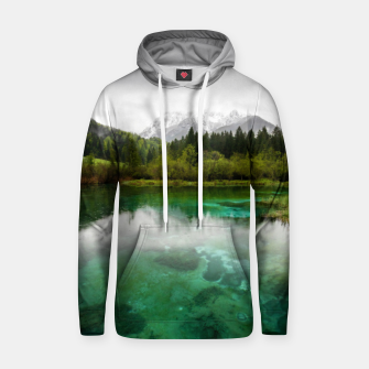Miniaturka Stunning cloudy day at Zelenci springs, Slovenia Hoodie, Live Heroes