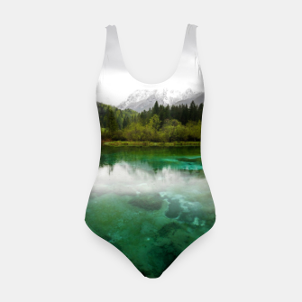 Miniaturka Stunning cloudy day at Zelenci springs, Slovenia Swimsuit, Live Heroes