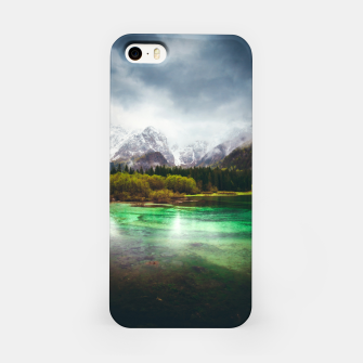 Imagen en miniatura de Stunning rainy day at lake Fusine, Italy iPhone Case, Live Heroes