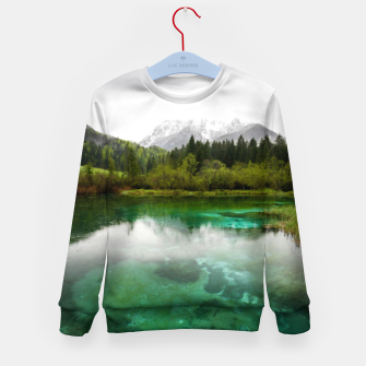 Miniaturka Stunning cloudy day at Zelenci springs, Slovenia Kid's sweater, Live Heroes