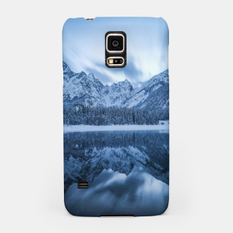 Miniatur Majestic mountain Mangart reflection Fusine lake Italy Samsung Case, Live Heroes