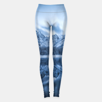 Miniatur Majestic mountain Mangart reflection Fusine lake Italy Leggings, Live Heroes