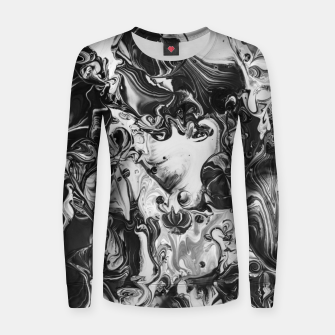 Thumbnail image of black and white abstract art Women sweater, Live Heroes