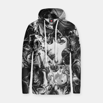 Thumbnail image of black and white abstract art Hoodie, Live Heroes