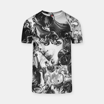 Thumbnail image of black and white abstract art T-shirt, Live Heroes