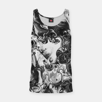 Thumbnail image of black and white abstract art Tank Top, Live Heroes
