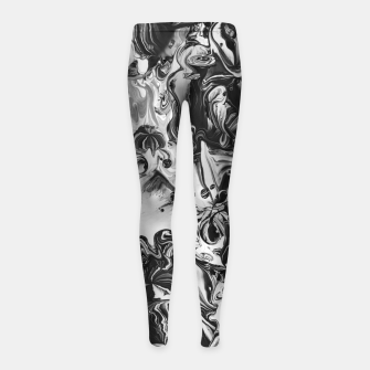 Thumbnail image of black and white abstract art Girl's leggings, Live Heroes