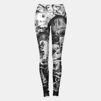 Thumbnail image of black and white abstract art Leggings, Live Heroes