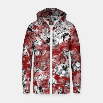 Thumbnail image of Bloody Ahegao Zip up hoodie, Live Heroes