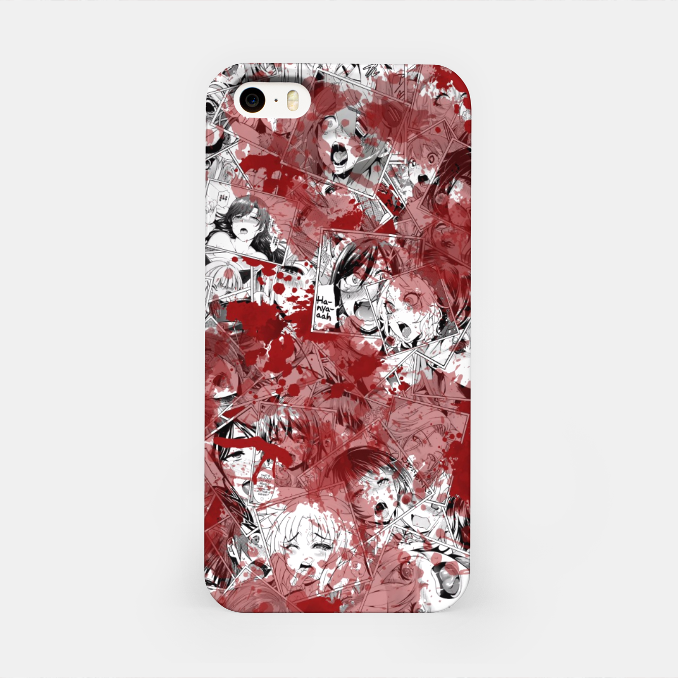Image of Bloody Ahegao iPhone Case - Live Heroes