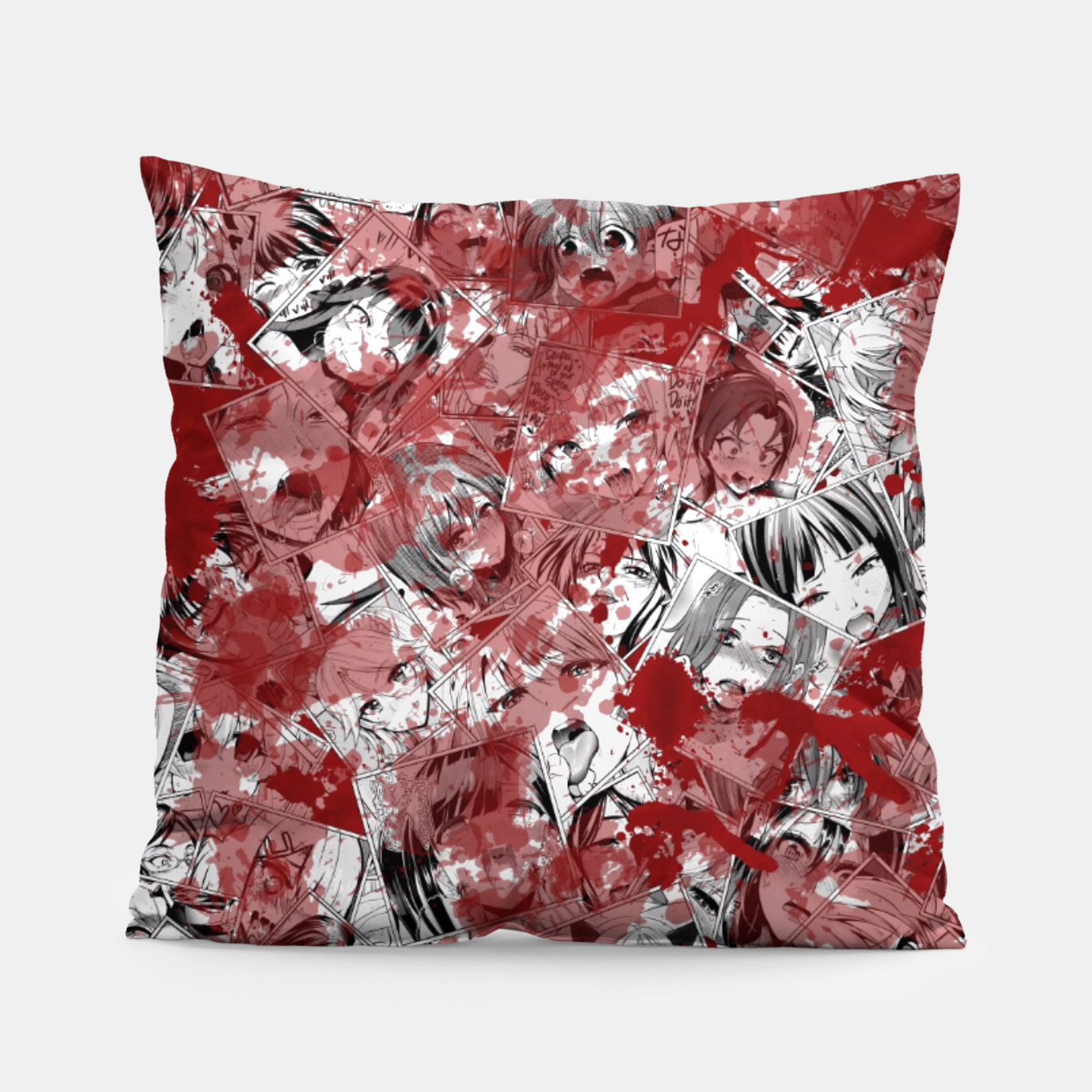 Image of Bloody Ahegao Pillow - Live Heroes
