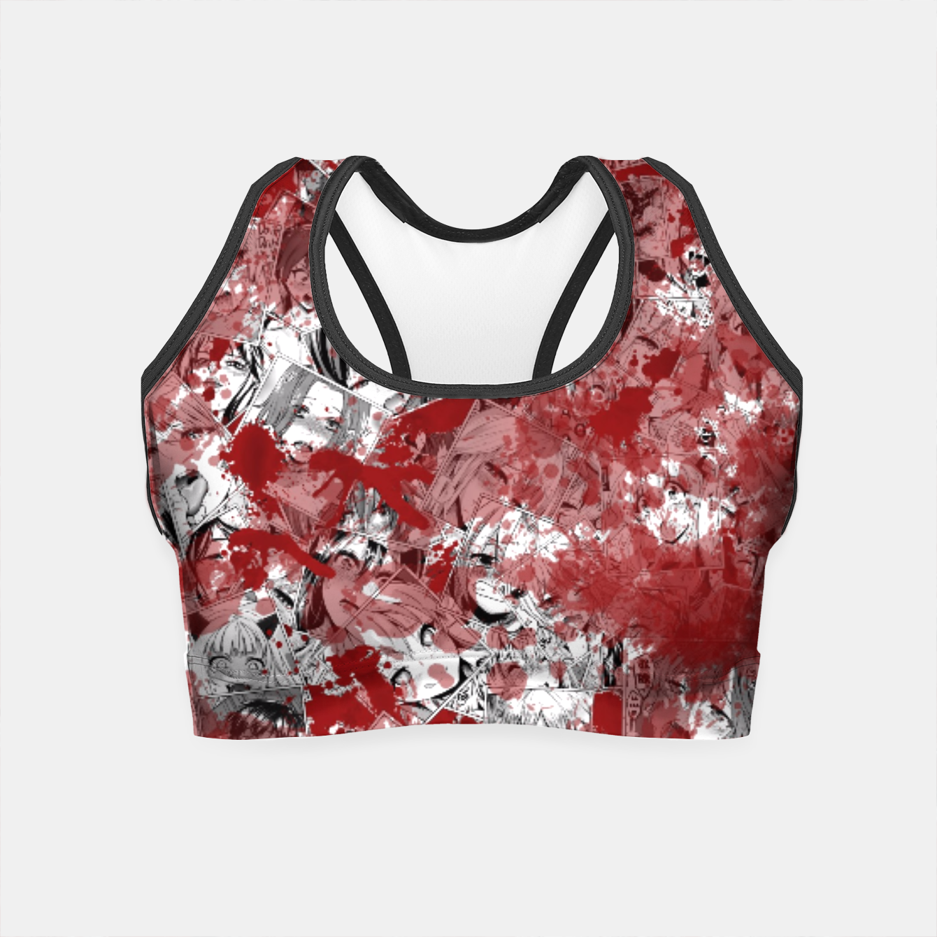 Image of Bloody Ahegao Crop Top - Live Heroes