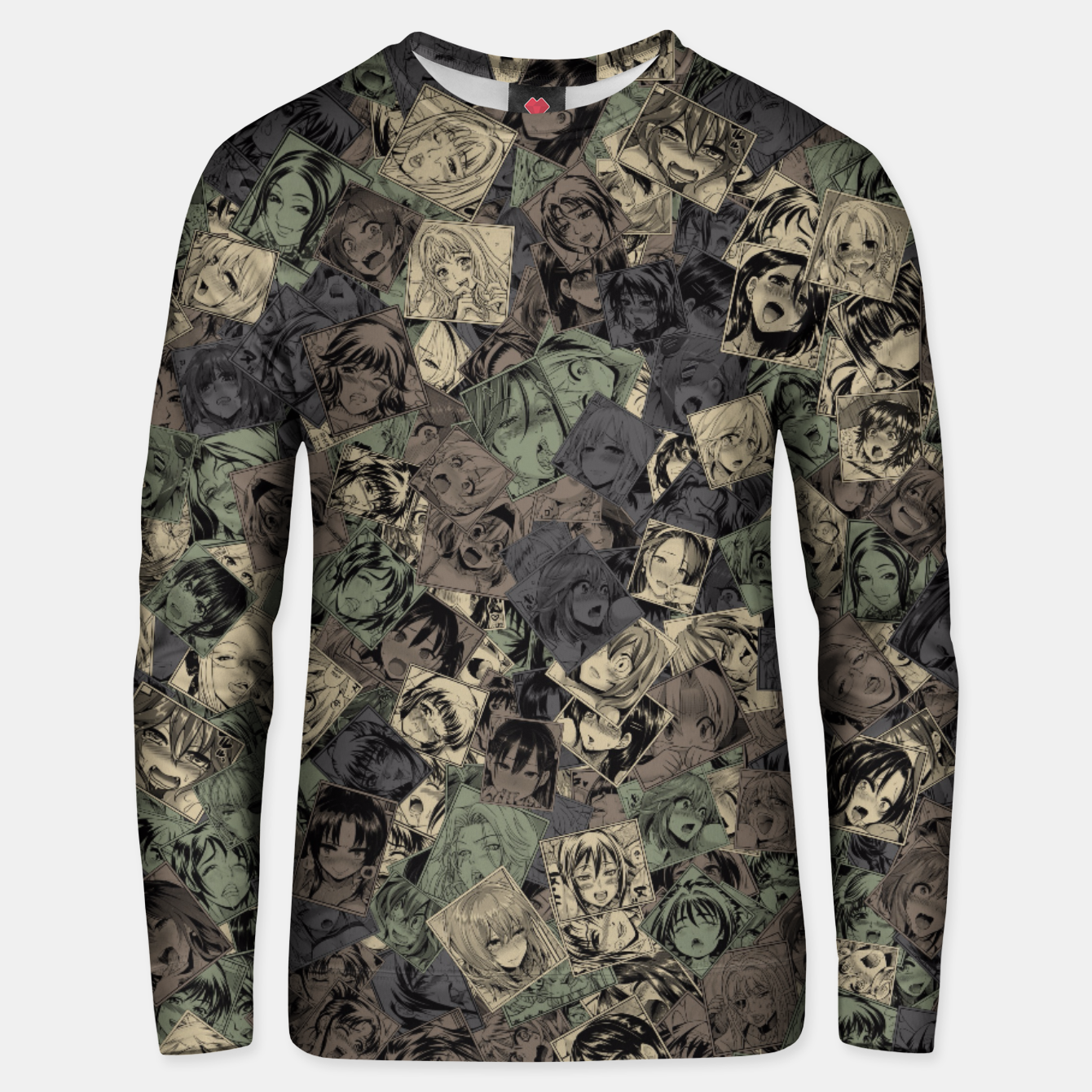 Image of Ahegao camouflage Unisex sweater - Live Heroes