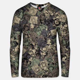 Thumbnail image of Ahegao camouflage Unisex sweater, Live Heroes